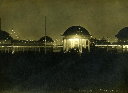 The bandstand at night, in the 1920s