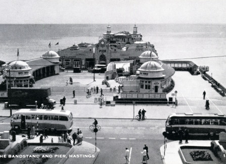 Mobile bandstand on the Pier, 1960s