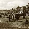 1920s beach scene looking west to Pier