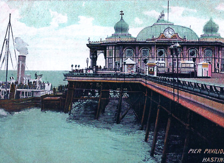Paddlesteamer at Hastings Pier