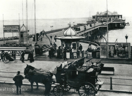 Edwardian post card of Hastings Pier
