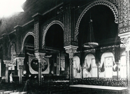 The interior of the Pier pavilion