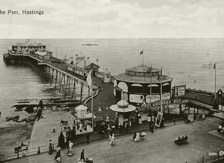View of the pre-WWI Pier from White Rock