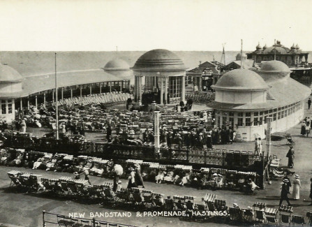 The bandstand arranged for an afternoon concert