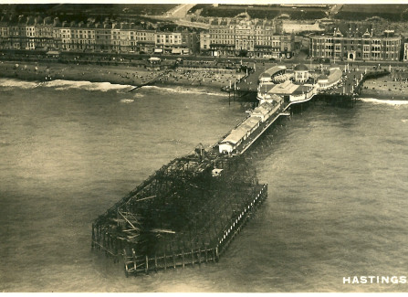 Aerial view of the Pier after the 1917 fire