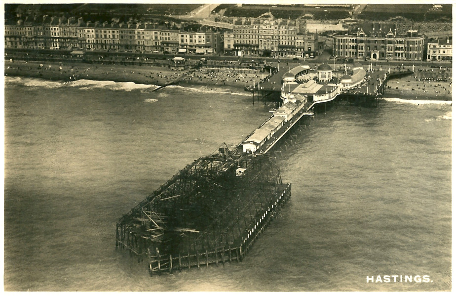 An aerial view after 1917 Pier fire