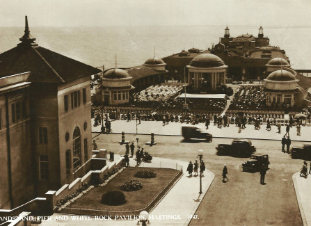 The bandstand and Pier after WWII
