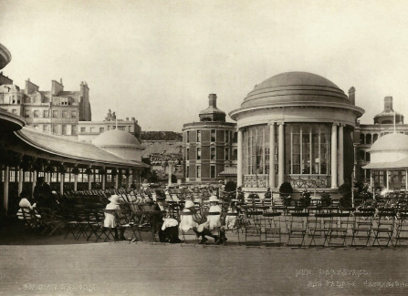 The new bandstand, 1917
