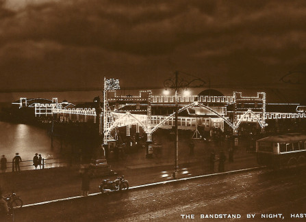 The Pier at night, 1930s
