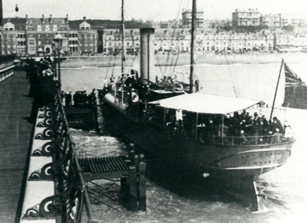 The Lady Brassey at Hastings Pier head