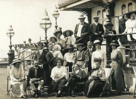 Group portrait outside the pavilion