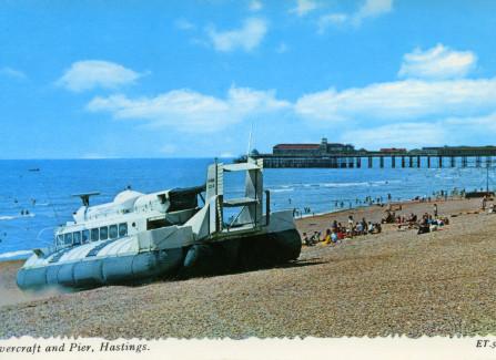 Hovercraft on Hastings Beach