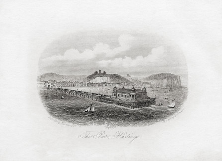 Victorian engraving of Hastings Pier