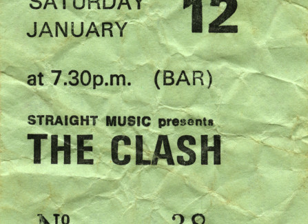 1980 Clash ticket, Hastings Pier