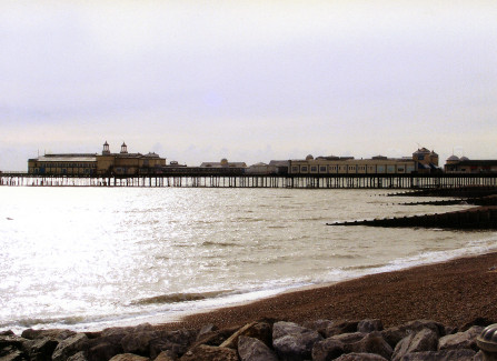 Hastings Pier a month before the 2010 fire