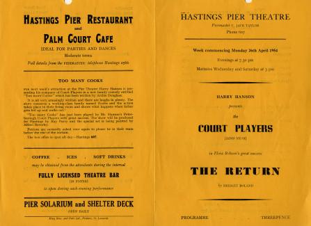 Programme for The Return, 26 April 1954