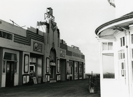 The Art Deco entrance to Hastings Pier