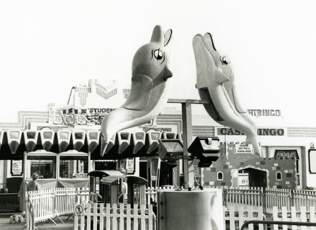 Dolphin ride on the Pier apron, 1980s