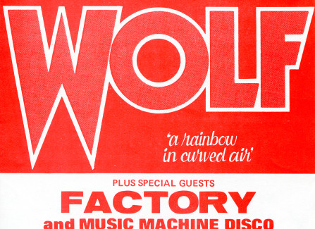 Poster for Wolf gig