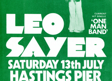 Flyer for Leo Sayer gig