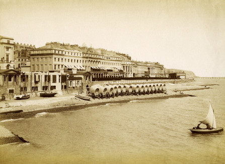 St Leonards bathing station, photographed from St Leonards Pier