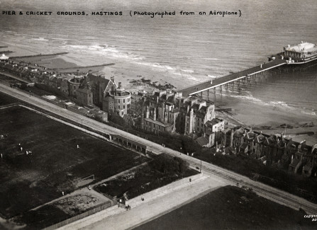 Aerial postcard of the Pier, posted 1907