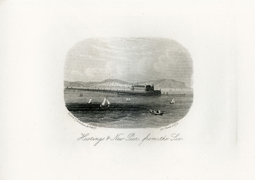 An engraving of the Pier from the sea, 20 June 1873