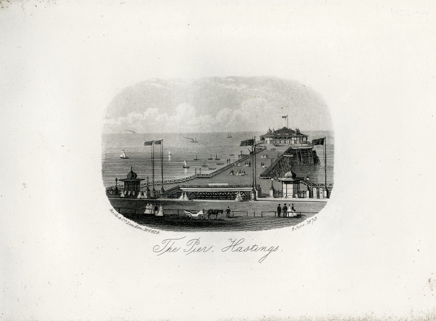 An engraving of a view of the Pier