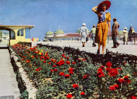 Promenading by the Pier in the 1950s