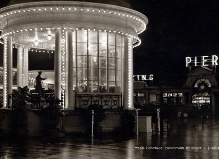 The Pier bandstand at night
