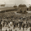 Crowds enjoying music at the Pier bandstand, 1920s