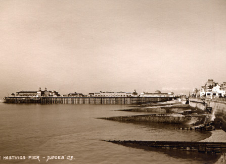 A steamer at Hastings Pier