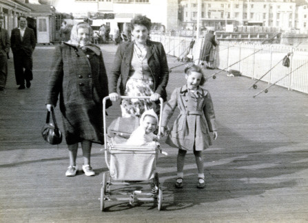 The Street family on the Pier, 1950s