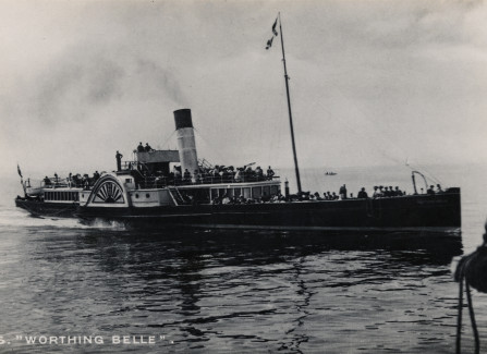 Worthing Belle at sea