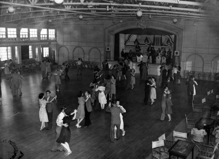 Dancing to the band in the Pier Ballroom after WWII