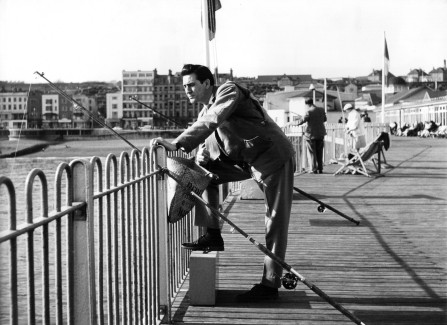 'Elvis' fishing on the Pier
