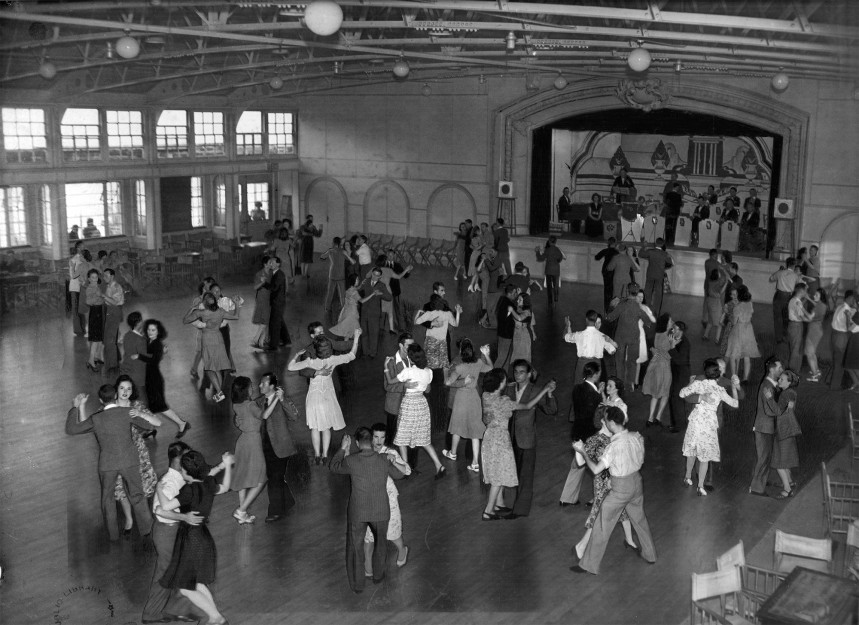 Some couples dancing in pavilion 1940s | East Sussex County Council Library & Information Service