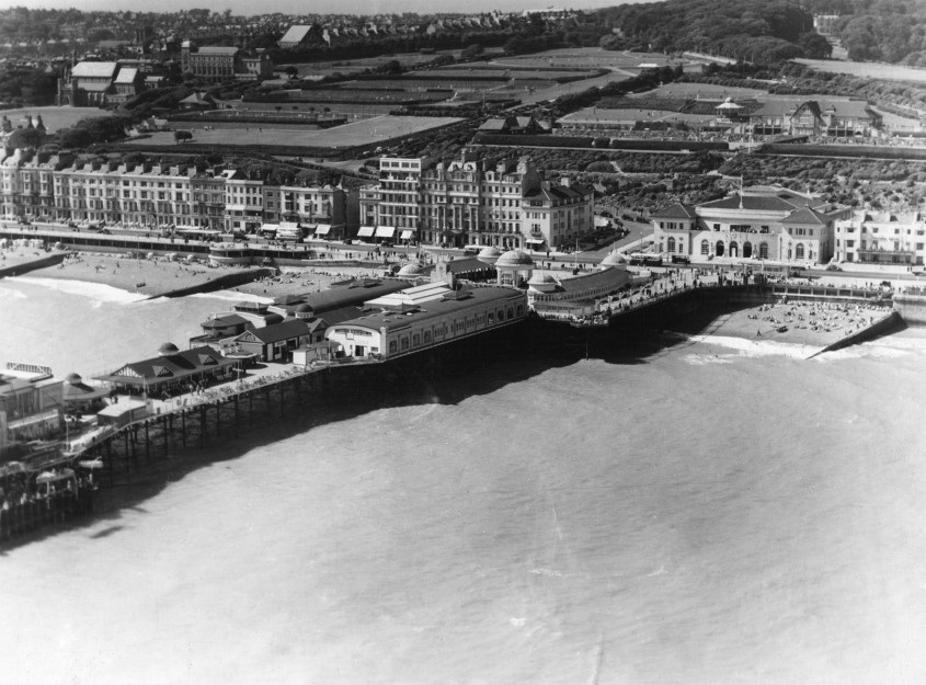 An aerial shot of the Pier, with bandstand | East Sussex County Council Library & Information Service