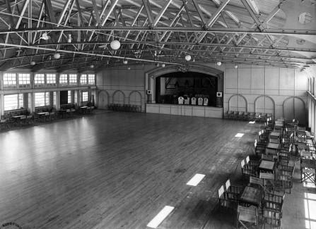 Empty Pier ballroom in the 1940s