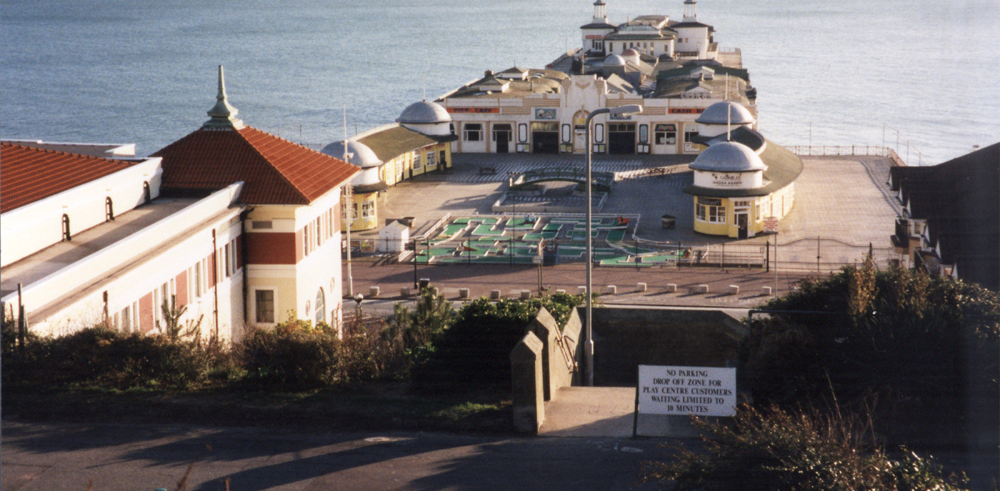 Crazy golf on the Pier apron, 1990's