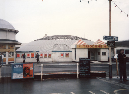 The Triodome being dismantled