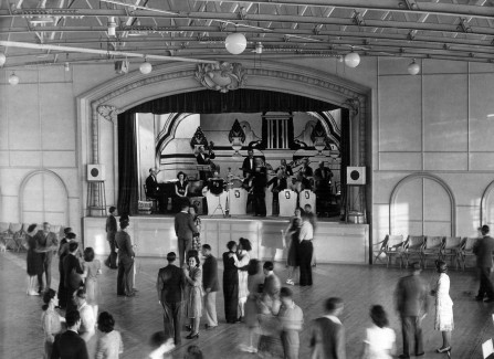 Dancing to a big band in the Pier ballroom