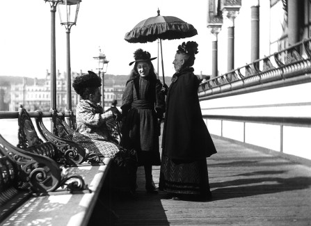 Photographer George Woods' family on Hastings Pier