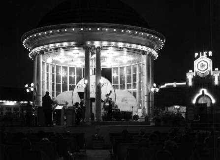 Night time concert in the bandstand
