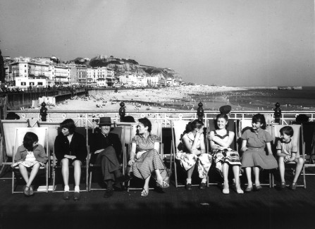 Family group on the Pier, 1950s