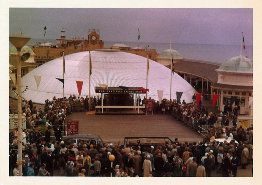 1966, the Queen visiting the Triodome | Image reproduced with permission of Hastings Museum and Art Gallery