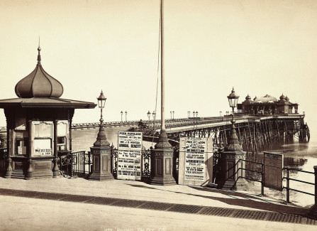Victorian photograph of the original Pier