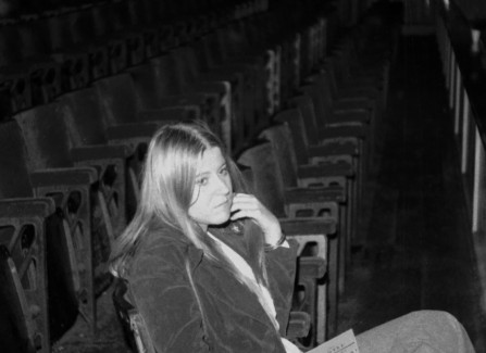 Waiting while the band sets up, 1970s