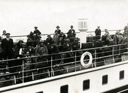 Aboard the Steam Ship Devonia going from Hastings to Boulogne, 1926