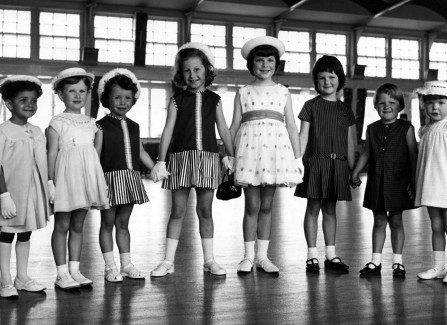 Children's fashion parade in the Pier ballroom